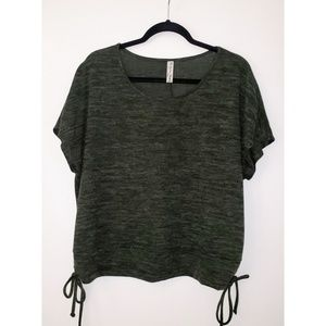 Per Seption Concept Green Short Sleeve Top XL